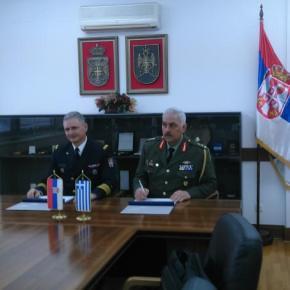 Ελλάδα – Σερβία υπέγραψαν Πρόγραμμα Στρατιωτικής Συνεργασίας –ΦΩΤΟ