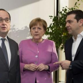 Σαφή ευρωπαϊκή θέση ζήτησε ο Τσίπρας από Μέρκελ – Ολάντ για τοΚυπριακό