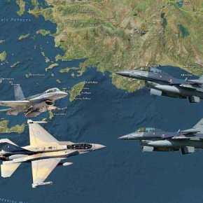 Οι Τούρκοι με 4 Οπλισμένα Μαχητικά & 3 κατασκοπευτικά ….Έκαναν σουρωτήρι τοΑιγαίο!