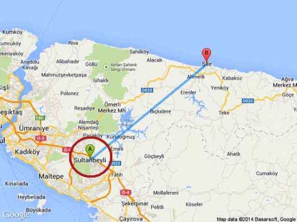 istanbul-sultanbeyli-sile-harita-km-uzaklik-mesafe-1