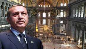 Ρ.Τ.Ερντογάν… σε στυλ Μωάμεθ κατακτητή- Προσκύνημα στην Αγια Σοφιά μια μέρα πριν το δημοψήφισμα(βίντεο)