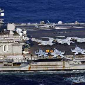 Σε θέσεις μάχης η αμερικανική αρμάδα με επικεφαλής το USS Carl Vinsοn «απέναντι» από την Β.Κορέα