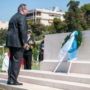 Καμμένος και ΑΓΕΕΘΑ στην τελετή μνήμης πεσόντων στη Μάχη της Καλλίπολης-φωτογραφίες.