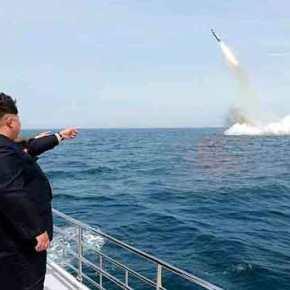 Β.Κορέα: «Είμαστε έτοιμοι για πυρηνικό πόλεμο» – Ο Κιμ Γιονγκ Ουν απαντά με πυραύλους που εκτοξεύονται από υποβρύχια (φωτό, βίντεο)(upd)