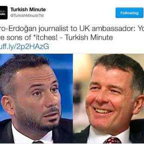 """""""Είστε που…ας γιοί""""! Απίστευτη επίθεση """"εξαπτέρυγου"""" του Ερντογάν στουςΒρετανούς"""