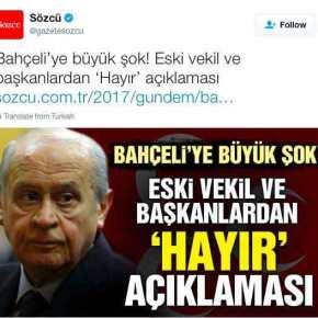 """ΤΟΥΡΚΙΑ ΔΗΜΟΨΗΦΙΣΜΑ: """"Πούλησαν"""" τον Ερντογάν στελέχη των Γκρίζων Λύκων! ΨηφίζουνΟΧΙ"""