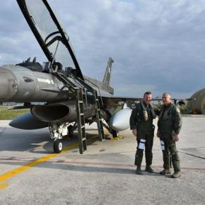 ΗΝΙΟΧΟΣ 2017: Ο ΑΓΕΑ και o Διοικητής USAFE στην Αεροπορική Βάση Ανδραβίδας –ΦΩΤΟ