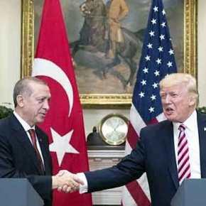 Ο Ν.Τραμπ ως νέος Τσώρτσιλ πρόσφερε στον Ερντογάν «μερίδιο» σε Αιγαίο και Α.Μεσόγειο για να τον αποσπάσει από την «αγκαλιά» τουΒ.Πούτιν!