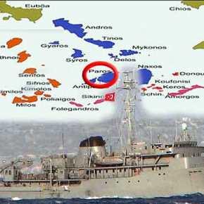 Επίδειξη δύναμης των Τούρκων στις Κυκλάδες: Τουρκικές φρεγάτες οργώνουν τα ΕΧΥ στηνΠάρο!