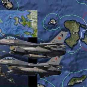 Υπέρπτηση στους Καλογήρους από τουρκικά F16
