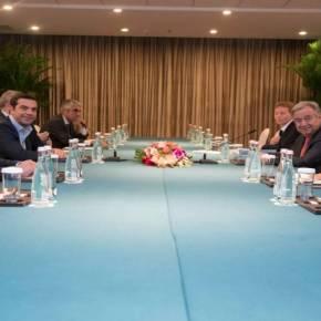 Το Κυπριακό στο επίκεντρο της συνάντησης του Αλ. Τσίπρα με τον ΓΓ του ΟΗΕ(φωτό)