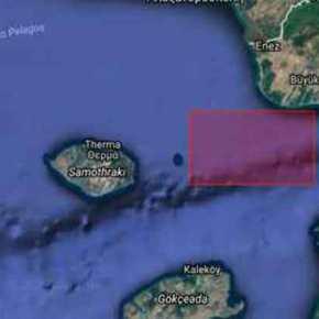 """Οι Τούρκοι δέσμευσαν περιοχή εντός χωρικών υδάτων μια """"ανάσα"""" από τηΖουράφα"""
