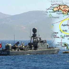 Τουρκικά πολεμικά στα χωρικά ύδατα τουΑγαθονησίου
