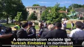 Ουάσιγκτον: Σωματοφύλακες του Ρ.Τ.Ερντογάν κυνηγούν και δέρνουν Κούρδους διαδηλωτές(βίντεο)