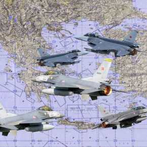 Τουρκική αεροναυτική άσκηση αύριο εντός των FIR Αθηνών καιΛευκωσίας