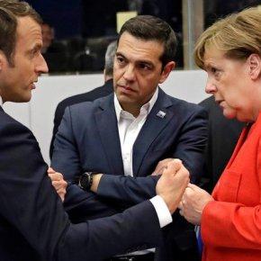 Καθαρή λύση για το χρέος ζήτησε ο πρωθυπουργός από Μέρκελ, Μακρόν καιΤουσκ