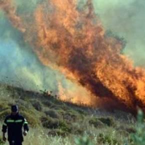 Κέρκυρα: Μεγάλη φωτιά κοντά στονΧαλικούνα