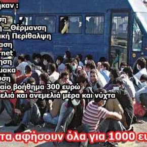 Ασφυκτική η κατάσταση στα νησιά του Αιγαίου: «Μποναμάς» 1.000 ευρώ στους πρόσφυγες για να φύγουν!(φωτό)