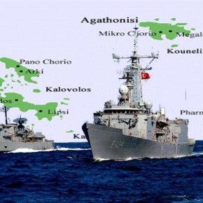 Σε ετοιμότητα οι Ένοπλες Δυνάμεις: Ελληνοτουρκική «ναυμαχία» στο Φαρμακονήσι – Φρούριο η νήσοςΠαναγιά