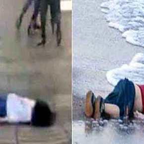 Μαντέψτε ποια φωτογραφία από τις δύο θέλουν τα ΜΜΕ να σας αποκρύψουν και ποια να προβάλλουν κατάκόρον