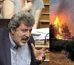 ΤΟ «ΕΚΑΨΕ» Ο ΠΟΛΑΚΗΣ: Επιτίθεται στον ΣΚΑΪ που μεταδίδει τιςπυρκαγιές