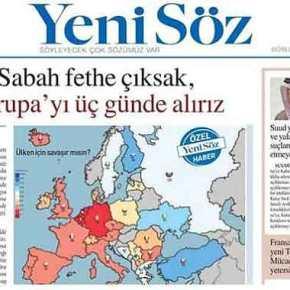 """""""Μπορούμε να κατακτήσουμε την Ευρώπη σε 3 μέρες"""" γράφουν τα """"τσιράκια"""" τουΕρντογάν!"""