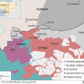 25 χλμ. μέσα στο έδαφος του συριακού Κουρδιστάν μπήκε ο τουρκικός Στρατός – Σκληρές μάχες με τουςΚούρδους