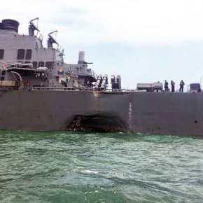 Οι πρώτες εικόνες της νέας ναυτικής τραγωδίας με την Αμερική να παρακολουθείσαστισμένη
