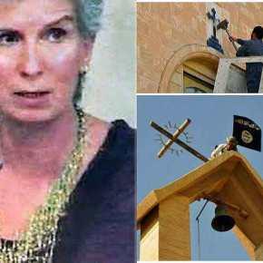 Τι διαφορά έχει η φανατική άθεα Συριζαία που πέταξε τις εικόνες από τους φανατικούς τζιχαντιστές που καίνεεκκλησίες;