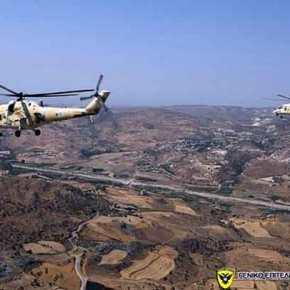 Ρωσική ασπίδα στην Κύπρο: Μαζική απογείωση των θηριωδών gunship MilMi-35P