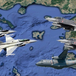 Τουρκία: Σουρωτήρι έκαναν το Αιγαίο 32 τουρκικάμαχητικά