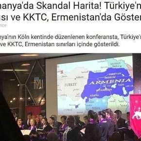 Σοκ στην Άγκυρα: Χάρτης στην Γερμανία δείχνει την μισή Τουρκία και τα… Κατεχόμενα να ανήκουν στηνΑρμενία!