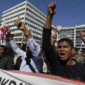 Τους τελείωσαν οι Έλληνες: Μόνο πακιστανοί στην εκδήλωση κατά της Χρυσής Αυγής στον Ασπρόπυργο –ΒΙΝΤΕΟ
