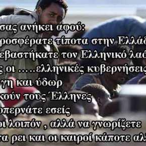 Δίνουν σε μετανάστη μηνιαίο επίδομα 2.174 ευρώ όταν οι Έλληνες φορτωμένοι με τα μνημόνια πεθαίνουν τηςπείνας