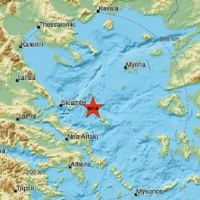 Σεισμός 5 Ρίχτερ στις βόρειεςΣποράδες