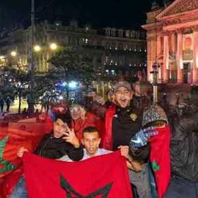 Δεύτερη ημέρα ταραχών στις Βρυξέλλες από Μαροκινούς: πανηγύριζαν για την πρόκριση στο Μουντιαλ και έστειλαν στο νοσοκομείοαστυνομικούς.