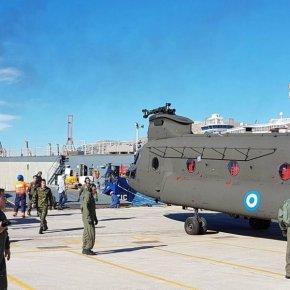 Στην Ελλάδα 3 CH-47D Chinook και 2 εξομοιωτές πτήσης από τις ΗΠΑ(φωτό)