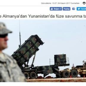 «Ασκήσεις πυραυλικής άμυνας από ΗΠΑ και Γερμανία στηνΕλλάδα»
