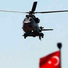Κλιμακώνει η Άγκυρα την προκλητική της στάση – Δύο υπερπτήσεις τούρκικου ελικοπτέρου πάνω από ταΊμια