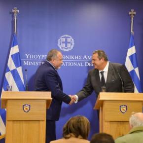 Καμμένος – Λίμπερμαν: Διεύρυνση της συνεργασίας Ελλάδας και Ισραήλ στον στρατιωτικότομέα