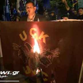 Ελληνο-αλβανική Θύελλα: «Έλληνες τρομοκράτες» έκαψαν την σημαία του UCK έξω από την αλβανική πρεσβεία και ανατίναξαν την οικία του ηγέτη μας»(Βίντεο)