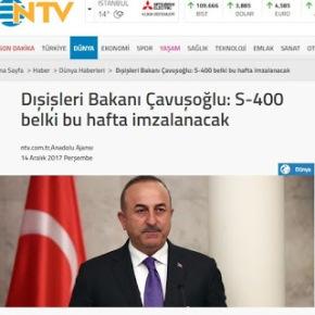 ΥΠΕΞ Τουρκίας: Η συμφωνία για τους S-400 ίσως υπογραφεί αυτήν τηνεβδομάδα