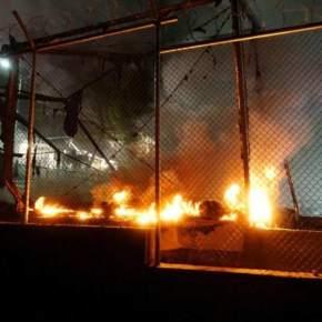 Μυτιλήνη: Τραυματίες και σοβαρά επεισόδια στον καταυλισμό τηςΜόριας