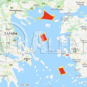 Τουρκία: Δεσμεύει για όλο το 2018 τρεις περιοχές στοΑιγαίο