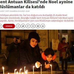 Κωνσταντινούπολη: Στην εκκλησία του Αγίου Αντωνίου έκαναν Χριστούγεννα και οι…μουσουλμάνοι
