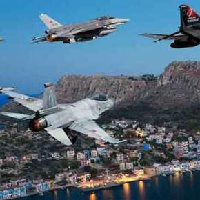 Σε κλοιό 14 Τούρκικων Μαχητικών και Πολεμικών σκαφών το Καστελόριζο …Συναγερμός στο ΑΤΑ & 95ΑΔΤΕ!