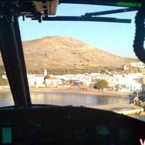 Στη Ψέριμο με Χιούι (UH-1H Huey ) της Α.Σ ο Πρωθυπουργός και ο ΥΕΘΑ! ( Αποκλειστικές Φώτο &video)