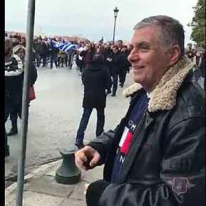 Ο Γιώργος Τράγκας Στο Συλλαλητήριο ΤηςΘεσσαλονίκης
