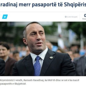 Ο πρωθυπουργός του Κοσόβου έλαβε διαβατήριο τηςΑλβανίας