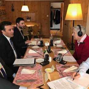 EKTAKTO – Συμβαίνει τώρα: Συνάντηση Ζάεφ-Σόρος για ένταξη στοΝΑΤΟ